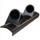 Carbon Look A Pillar Dual Gauge Pod